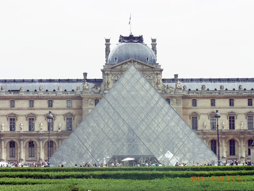 bk 2 in paris, hier am louvre